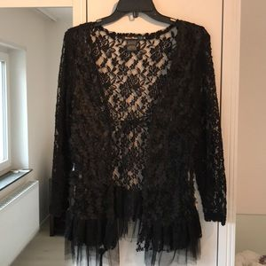 NWOT Black urban mango lace cardigan